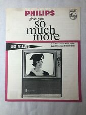 Vintage 1960's Model 8213 and 7213 Television Brochure