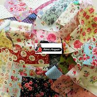 Fabric SCRAPS-VALUE PACK Floral Vintage Bundle Offcuts MIXED Remnants Cotton