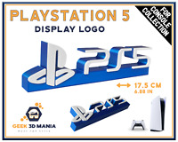 PS5 PlayStation Logo Stand Sign Shelf Deco for Video Game Collection Geek Gaming