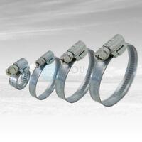 50 Stück 9 mm 100-120mm Schneckengewinde Schlauchschellen Schelle Stahl Verzinkt