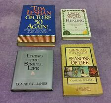 4 Book Lot Living the Simple Life Daily Word for Healing Aging Spiritual Swindol