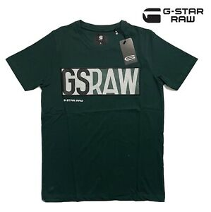 G-star Mens Dark Green T-shirt Crew Neck 100% Cotton Short Sleeve Tee Brand New