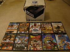 BOXED BLACK NINTENDO GAMECUBE WITH 10 GREAT GAMES BUNDLE , PAL ....