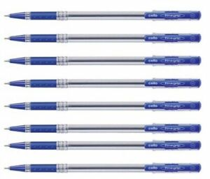 10x Cello FINEGRIP BLAU Kugelschreiber | 0,7mm | flüssiges Schreiben Schulbüro