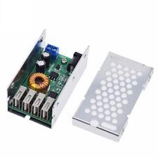 4 USB 24V/12V to 5V 5A Step Down Buck Power Supply Module Converter Board + Case