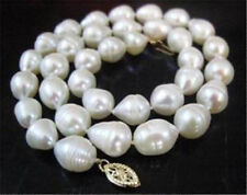 REAL 10-11mm AKOYA WHITE baroque PEARL NECKLACE 18""