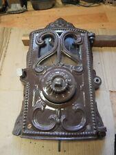 Porte + devant foyer GODIN poêle 3721  émaillé Marron restauration complète TBE