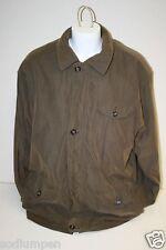 Jacket Men's Vintage Club Room Brown Casual Fleece Lined L Lots of Pockets