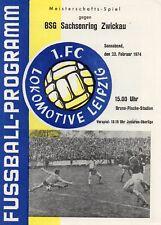 1.FC Lok Leipzig - Sachsenring Zwickau 23.02.1974, OL 73-4