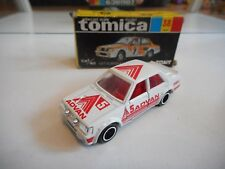 "Tomica Mitsubishi Lancer Turbo ""5 advan"" in White in Box (Made in Japan)"