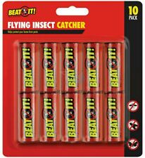 🔥10 X Flying Insect Catcher Fly Killer Flies Mosquito Bug Wasp Trap Tape Strip