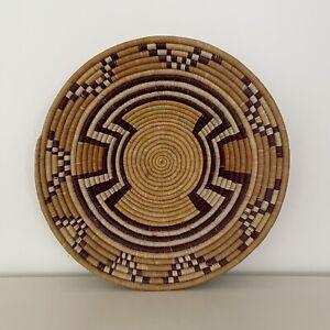 Large Handwoven African (Rwanda) Basket / Bowl (Ethnic/Hippie/Boho) 45cm