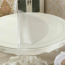 """24""""1.5mm Waterproof Pvc Clear Tablecloth Round Transparent Table Protector Cover"""