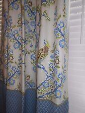 Custom drapes printed IMAN Magic garden fabric floral peacock design new PAIR