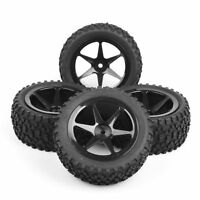 RC 4Pcs Front&Rear 1:10 Rubber Tires&Wheel 12mm Hex For HSP 1/10 Buggy Car