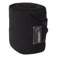 CATAGO elastische Fleecebandagen, 4 Stück - schwarz Bandagen für Pferde Beine