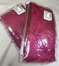 "Pair of Eyelash Fuchsia 50""WX63""L Panel Shimmering Long Hair Sheer Fabric Drapes"