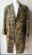 PRIVATE WHITE V.C. Trench Coat camo collar button pocket SIZE 4 Pit 2 pit 21.5in