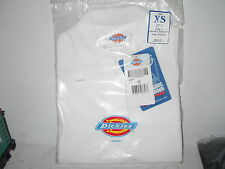 Dickies Girls Short Sleeve Polo Shirt Uniform - White- Size X-Small (4) - New
