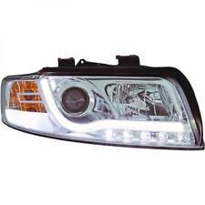 LHD Projector Headlights Pair LED DRL Clear Chrome For Audi A4 Avant 8E 00-04