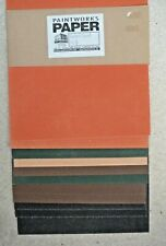 11 X SHEETS SANDED  PASTEL CARD, 32 X 25CM, ASSORTED COLOURS