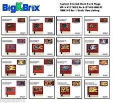 Cloth 8 x 5 Flags Custom made & printed for Lego Castle Factions See Listing