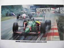 MICHAEL TURNER CARD FORMULA 1 GRAND PRIX : ALESSANDRO NANNINI / BENETTON FORD F1
