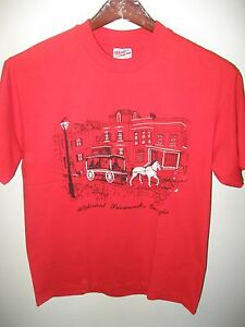 Historical Savannah Georgia USA Vintage 1980's Horse Carriage Street Shirt M/Lg