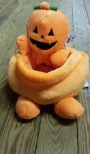L@@K!!! Pumpkin Halloween TRICK OR TREAT Bucket Bag PLUSH BASKET