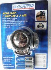 Port Lampe frontale Grauvell 1 Spot 3 LED L peche Chasse Randonnée