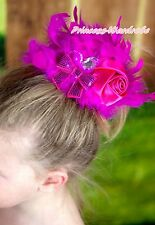 Feather Sequins Bow Pearl Rose Posh Dance Party Wedding Banquet Girl Hair Clip
