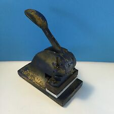 Vintage Metal STAMP / SEAL PRESS Black With Gold Detail retro