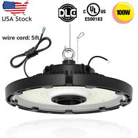 100W UFO LED High Bay Light Industrial Warehouse Workshop Garage Gyms Lamp DLC