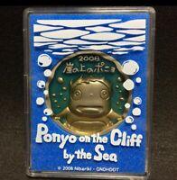 Studio Ghibli Ponyo on the Cliff by the Sea Medal Rare Hayao Miyazaki F/S