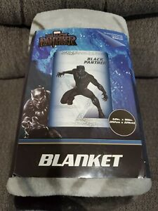 "Marvel Black Panther Full Size Plush Bedding Throw Blanket - 62"" x 90"""