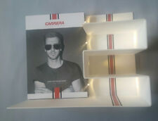 CARRERA 4PC LIGHTED DISPLAY UNIT IN WHITE PLEXIGLASS 4PC INTERCHANGEABLE IMAGES