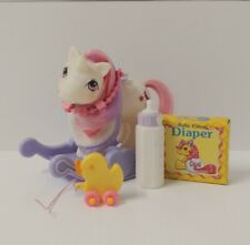 Vintage G1 Hasbro My Little Pony Baby Moondancer with Accessories