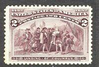 [MC2]   Near-JUMBO US #231 MNH 1893 Classic 2c 'Columbian Exposition' Stamp.