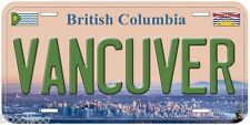 Vancuver British Columbia Canada Aluminum Novelty Car License Plate P01