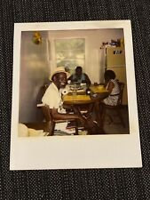 African American Guy Hat Kitchen Table Vintage 1980s Polaroid Photograph