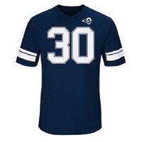 Los Angeles Rams NFL Men's Short Sleeve Todd Gurley II Jersey Tee Navy Blue L XL