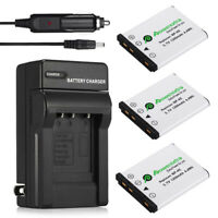 3x NP-45 NP-45A Battery + Charger For Fuji FinePix XP10 XP60 XP70 J10 J40 J100