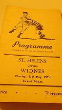 13.5.63 St Helens V WIDNES programa