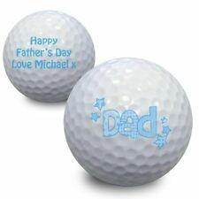 Personalised Dad Golf Ball Sports Gift Add A Message - Fathers Day Gifts