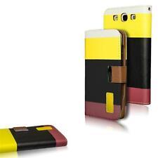 Samsung Galaxy S3 Neo Hülle Klapphülle Tasche 3 Farben Premium Case Cover Gelb