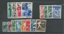 Nederland  212-219, 244-247, 257-260  VFU/gebr  CV 165 €