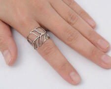 USA Seller Feather Ring Sterling Silver 925 Best Deal Plain Jewelry Size 10
