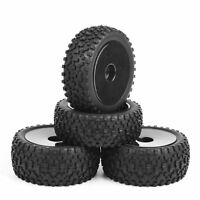 4Pcs 1/10 12mm Hex RC Off-Road Buggy Car Front & Rear Tires and Wheel