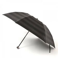 New Burberry Folding Umbrella Inner Border Gun meta 55cm Black Men from Japan