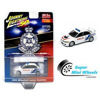 Johnny Lightning 50th 2004 Mitsubishi Lancer Evolution Malysian Police 1:64
